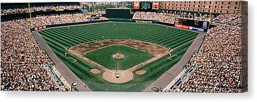Camden Yards Baseball Field Baltimore Md Canvas Print by Panoramic Images