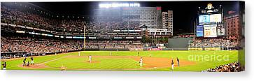 Camden Yards Canvas Print by Mike Baltzgar