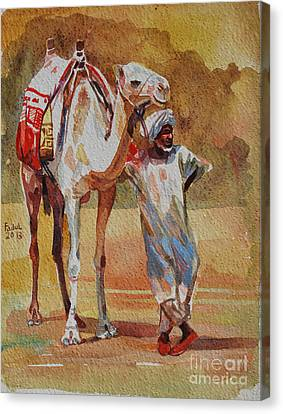 Canvas Print - Camel And The Desert by Mohamed Fadul