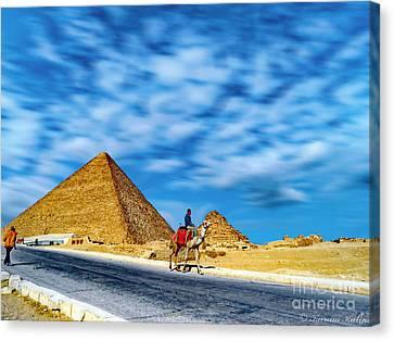 Camel Rider Canvas Print by Karam Halim