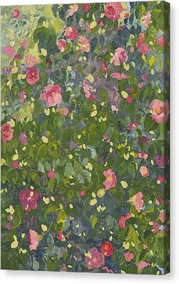 Camellia Canvas Print - Camellia In Flower by Leigh Glover