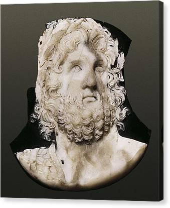 Cameo Depicting Jupiter. 2nd C. Onyx Canvas Print by Everett