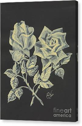 Cameo Rose Canvas Print by Carol Wisniewski