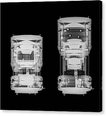 Radiograph Canvas Print - Camera Lens Under X-ray. by Photostock-israel