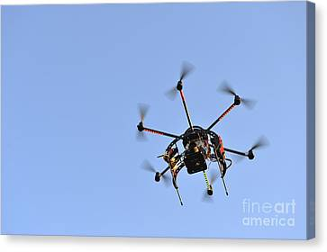 Camera On Unmanned Aerial Vehicle Canvas Print by Sami Sarkis