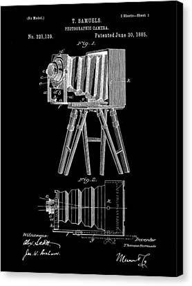 Camera Patent 1885 - Black Canvas Print