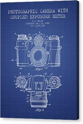 Camera Patent From 1962 - Blueprint Canvas Print