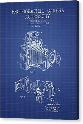 Camera Patent From 1963 - Blueprint Canvas Print