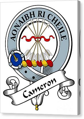 Cameron Clan Badge Canvas Print by Heraldry