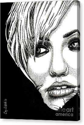 Cameron Diaz Canvas Print by Cory Still