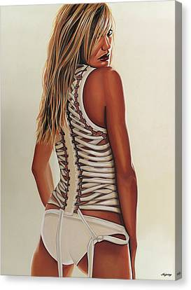 Cameron Diaz Painting Canvas Print by Paul Meijering
