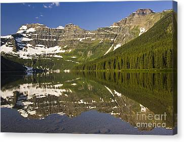 Cameron Lake Canvas Print by Dee Cresswell