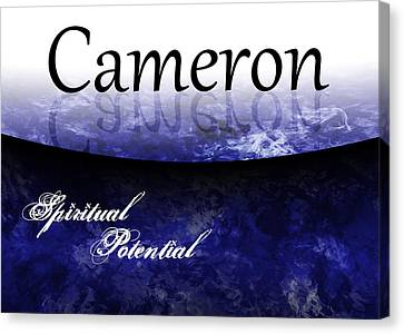 Cameron - Spiritual Potential Canvas Print by Christopher Gaston