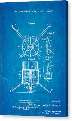 Cameron Stand Golf Bag Patent Art 1930 Blueprint Canvas Print by Ian Monk
