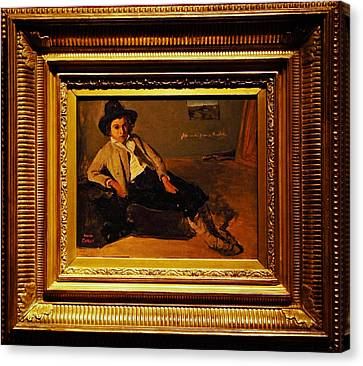 Camille Corot Jeune Italien Assis Canvas Print by MotionAge Designs