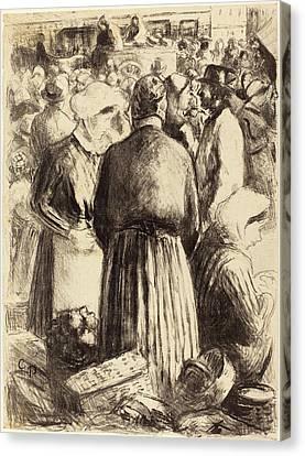 Camille Pissarro French, 1830 - 1903, Market At Pontoise Canvas Print