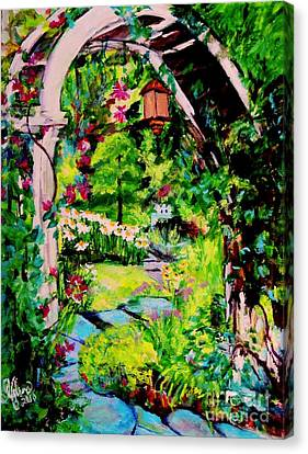 Camille's Secret Cottage Garden  Canvas Print