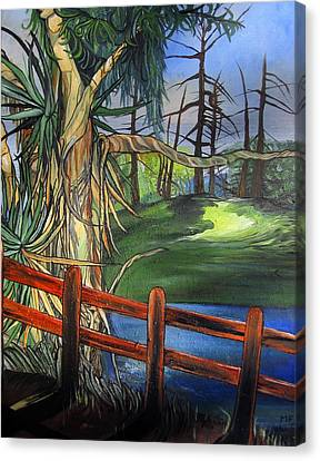 Camino Real Park Canvas Print by Mary Ellen Frazee