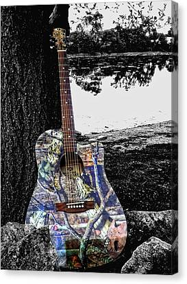 Camo Guitar Canvas Print