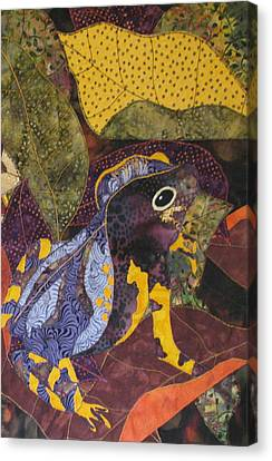 Camouflaged Forest Toad Canvas Print by Lynda K Boardman
