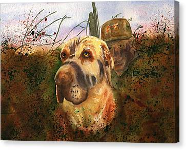 Camouflaged Hunters Canvas Print