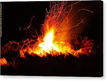 Canvas Print featuring the photograph Camp Fire... by Al Fritz