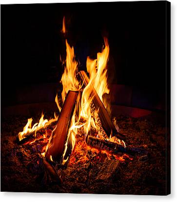Camp Fire Canvas Print