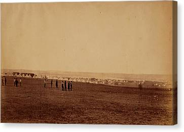 Camp Of The 3rd Division, French Tents In The Distance Canvas Print