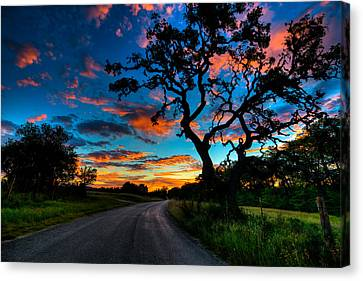 Camp Verde Sunise Canvas Print by Allen Biedrzycki