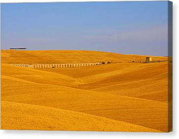 Tarquinia Landscape Campaign With Aqueduct And House Canvas Print