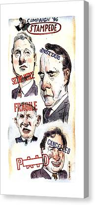 Campaign '96 Stampede Canvas Print by Barry Blitt