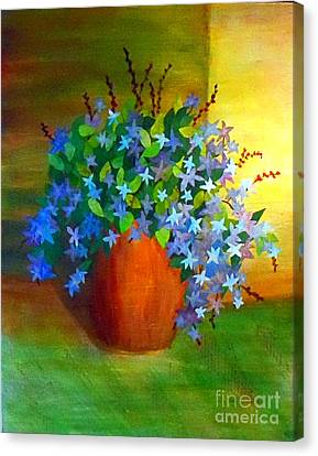 Campanula In Terra Cotta Canvas Print by Desiree Paquette
