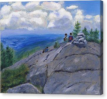 Campers On Mount Percival Canvas Print