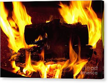 Campfire Burning Canvas Print