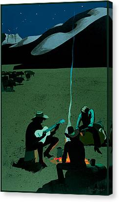 Campfire Canvas Print by Clifford Faust