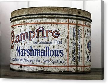 Campfire Marshmallows Tin Canvas Print by Lynn Palmer