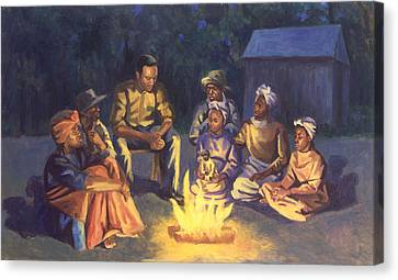 Campfire Stories Canvas Print by Colin Bootman