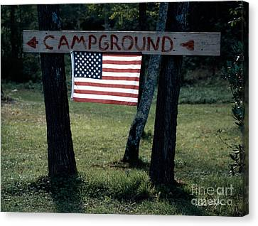 Campground 2003 Canvas Print