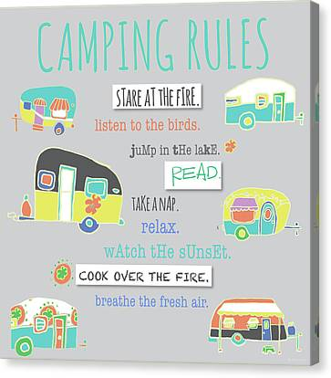 Camping Rules Canvas Print by Pamela J. Wingard