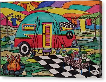 Camping..the Life Canvas Print by Carol Hamby