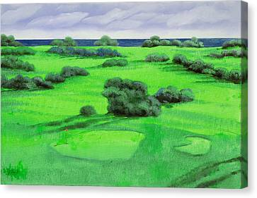 Campo Da Golf Canvas Print by Guido Borelli