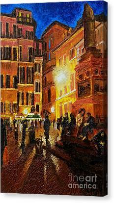 Campo Di Fiori- Italy Canvas Print by Fanny Diaz