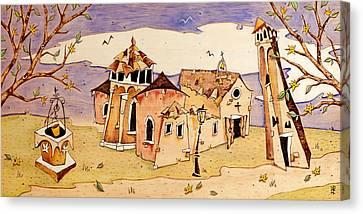 Campo San Giacomo Dell'orio Venecia Canvas Print by Arte Venezia
