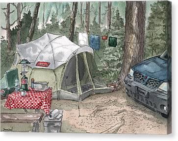 Campsite Canvas Print by Sean Seal