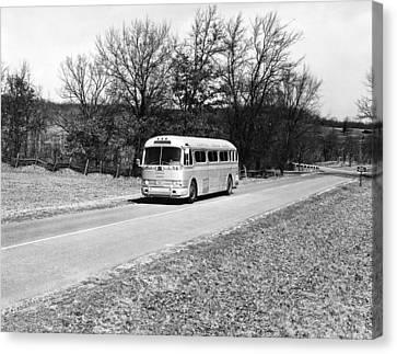 Campus Coach Line Bus Canvas Print by Underwood Archives