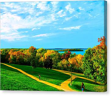 Campus Fall Colors Canvas Print