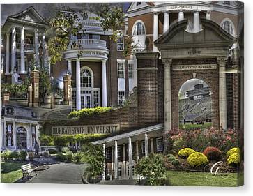 Murray Kentucky Canvas Print - Campus Life Murray State University by Gina Munger