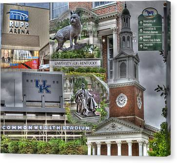 Campus Life University Of Kentucky Canvas Print by Gina Munger