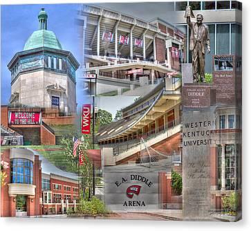 Western Kentucky Canvas Print - Campus Life Western Kentucky University II by Gina Munger