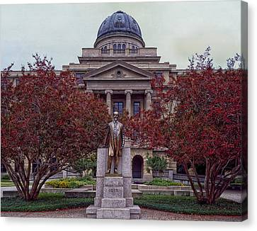 Campus Of Texas Am Canvas Print by Mountain Dreams